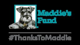 Maddie's fund logo with #ThankstoMaddie.