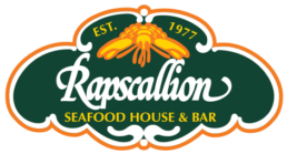 Logo for Rapscallion Seafood House and Bar established 1977.
